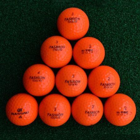 oranje golfballen lakeballs