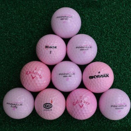 roze golfballen lakeballs